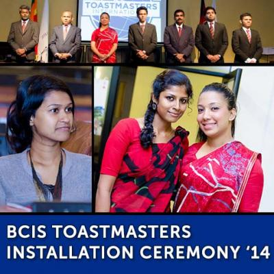 BCIS Toastmasters Installation Ceremony '14