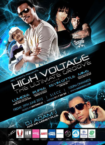 Kevin Lyttle, Rupee, MIMS, DJ Adam J, MC Money plus Live in Concert Colombo.HIGH VOLTAGE - THE ULTIMATE GROOVE