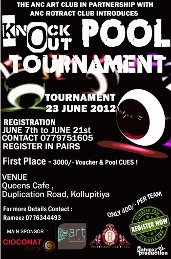 KNOCK OUT POOL TOURNAMENT