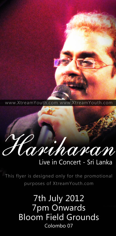 HARIHARAN Live in Concert  Colombo