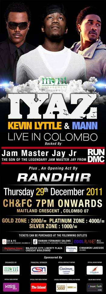 Iyaz, Kevin Lyttle & Mann | Live in Colombo